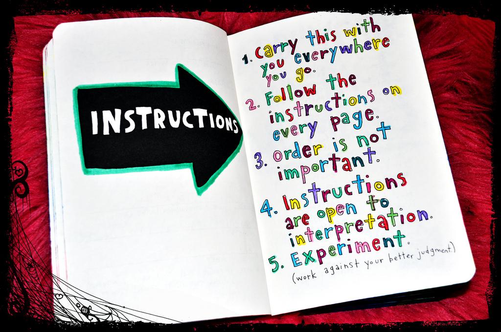 le sagge istruzioni colorate sono di  Yanily66