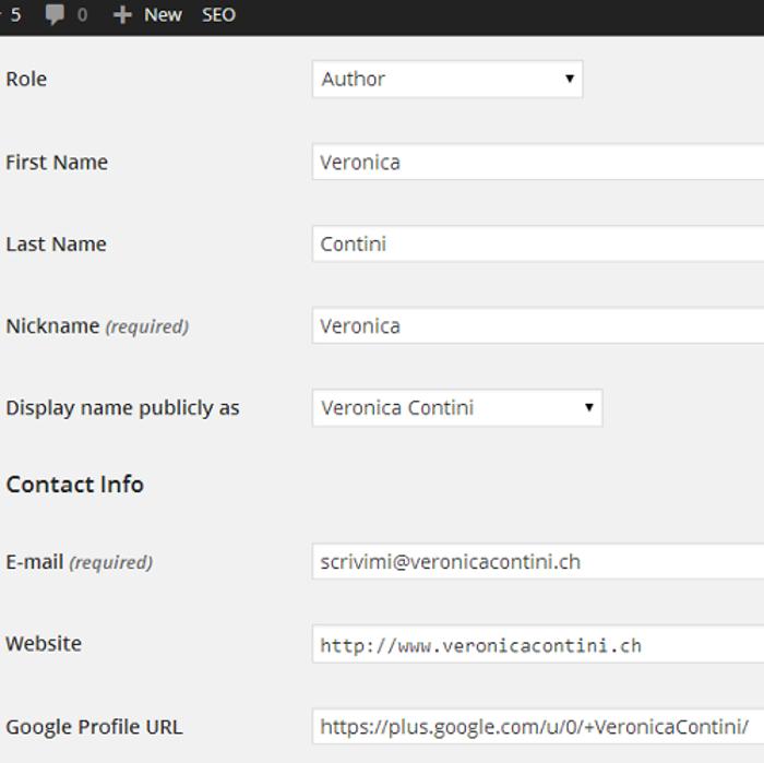 come inserire la google authorship in wordpress
