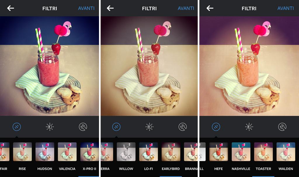 Editing veloce per le tue foto su Instagram