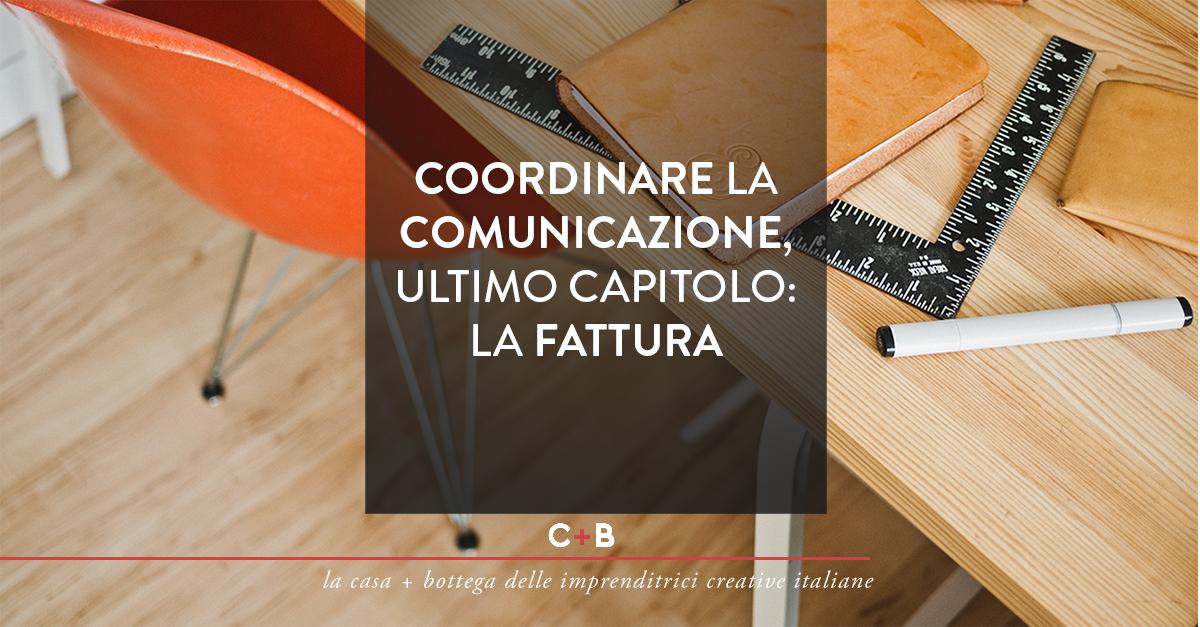 coordinare la comunicazione: la fattura