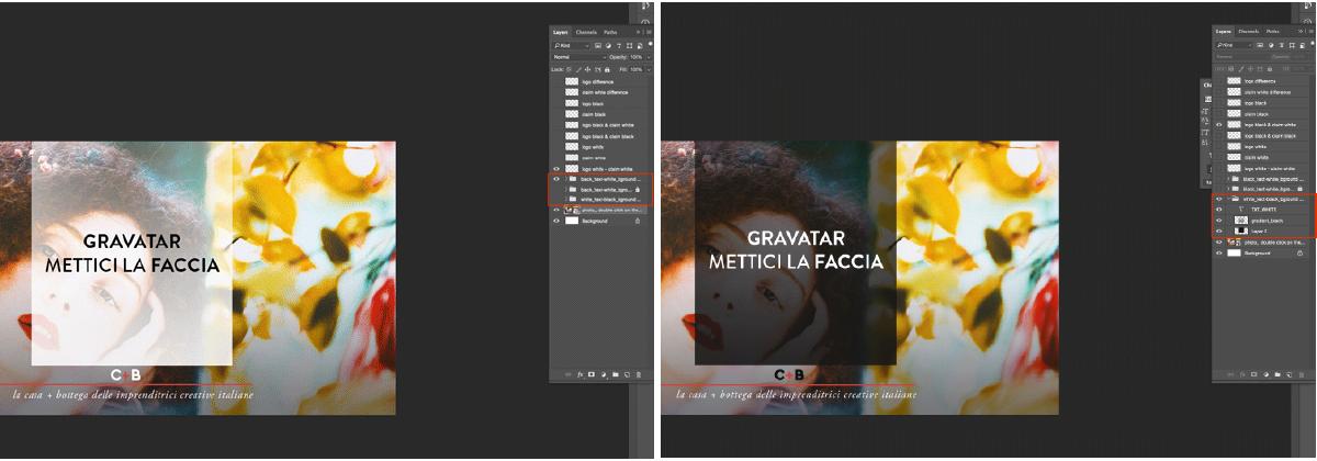 Usare livelli prestabiliti ad ogni tipo di layout, facilita l'impaginazione