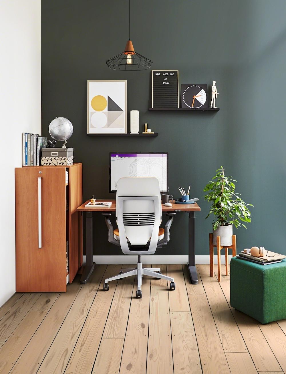 scrivania da ufficio come sfondo