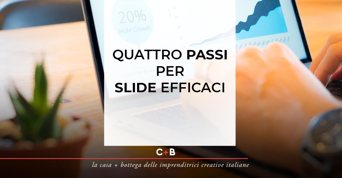 Quattro passi per slide efficaci