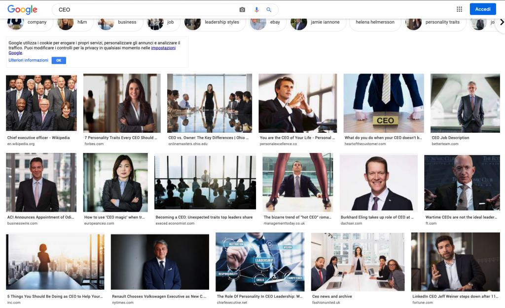 Slide efficaci e inclusive: CEO